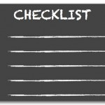 Having a checklist means never forgetting to do something important…